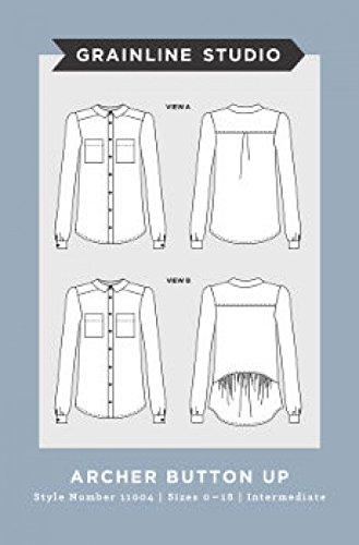 grainline Studio Damen Schnittmuster 11003Hammer/Schlägel Archer Button Up Shirt