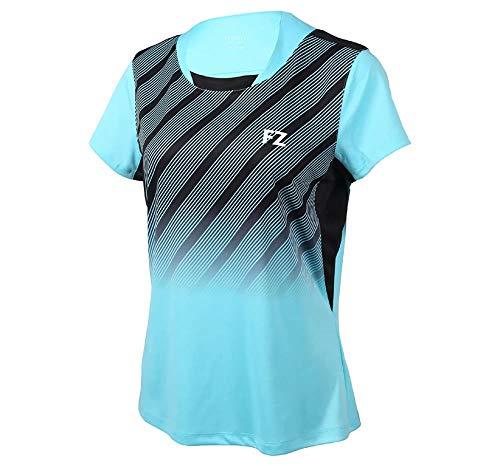 FZ Forza Habibi Womens Tee Blue Fisch XL - Damen Sportshirt für Tennis, Badminton und weitere Sportarten