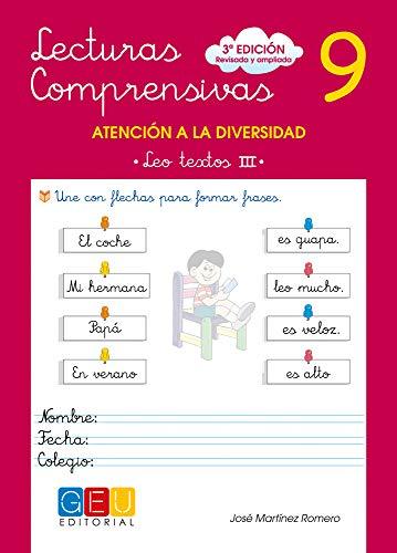 Lecturas comprensivas 9 / Editorial GEU / 2º Primaria / Mejora la comprensión lectora / Recomendado como apoyo / Actividades sencillas