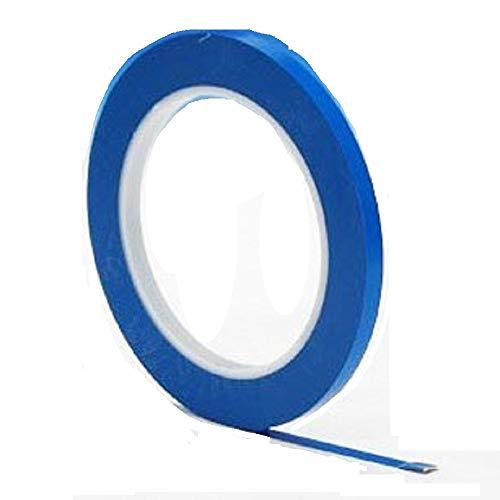 3M 471 - Cinta de carrocero, baja en residuos, vinilo, 3 mm x 33 m, color azul