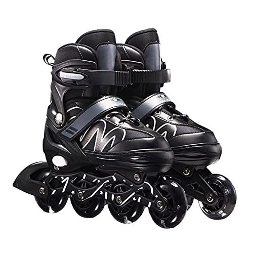 Inline-Skates, Verstellbare Inline-Skates Herren Damen, Rollschuhe Schlittschuhe Rollerblades Für Kinder Erwachsene| 82A Rollen | größenverstellbar Von 26 bis 42 | Unisex Fitness Skates Für Anfänger