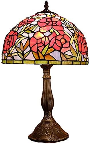 Ckssyao Lámpara de Mesa Estilo vitral Sala de Estar Dormitorio lámpara de Mesa cálida Boda Creativa lámpara de Noche romántica lámpara de Mesa 30 * 50 cm