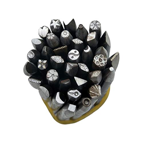 BUIDI 36 Stück/Set DIY Bastelwerkzeug Stahlstanzen Blumenstempel Stempelset Schmuck Herstellung Ohrringe, Halsketten, Ringe, Schlüsselanhänger, Broschen, Geschenke Wie...