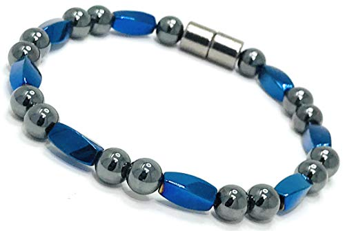 HIGHPOWER Magnetic Hematite Bracelet for Natural Pain Relief and Weight Loss (9.5 Inch)