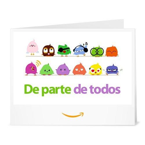 Cheque Regalo de Amazon.es - Imprimir - Pájaros