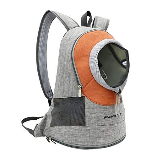 Dog Travel Bags Pets Portable Dog Carrier Bag Pet Puppy Travel Bag Travel Backpack Dog Cat Carrier Breathable Outdoor Pet Bag Cat Carrier (Color : Orange, Size : Within 3kg)