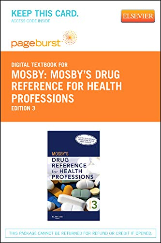 Mosbys Drug Reference for Health Professions: Pageburst Retail