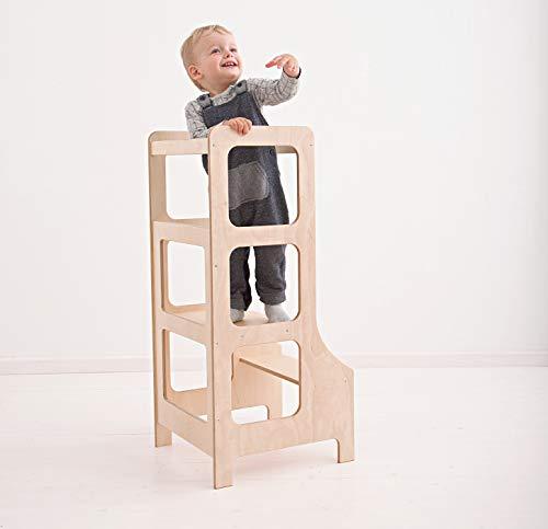 Kitchen Tower para niños – Montessori - Taburete de aprendizaje para niños pequeños y niños para uso en cocina y baño (Producto para bebé)