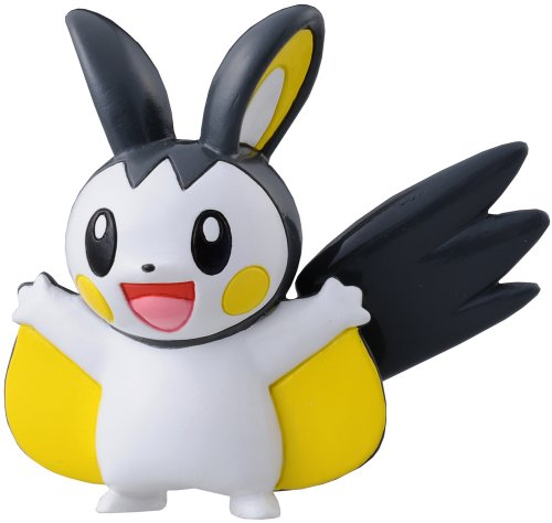 TAKARA TOMY TakaraTomy Pokemon Schwarz und Weiß Monster Collection Figur – m-028 – Emonga/Emolga