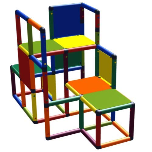 move and stic Baukasten Kletter-Max Lernturm Spielturm Kletterturm Einsteiger Multicolor