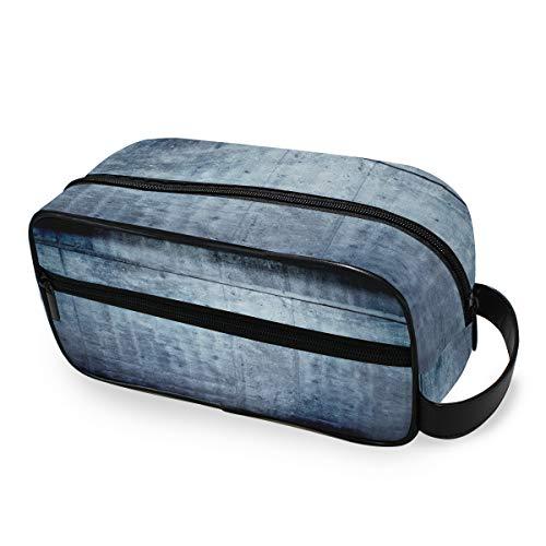 Bolsa de maquillaje Toiletry Pouch Storage Habitación azul portátil con vigas de hormigón Herramientas de techo Estuche de tren cosmético Monedero Viaje