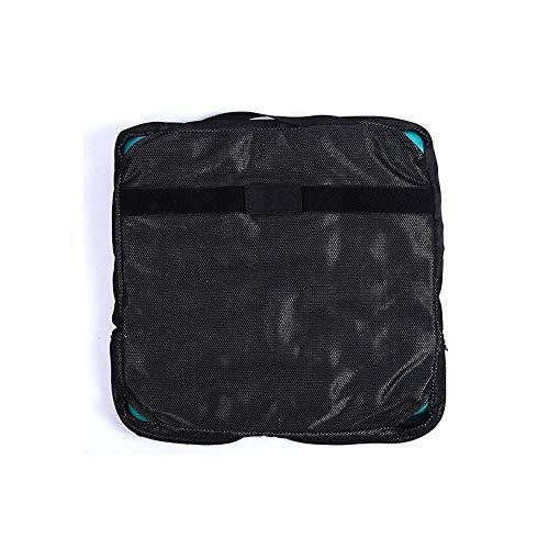 WANGXN Coccyx zitkussen voor auto, bureaustoelen, tuinstoelen, rolstoel, ligstoel opblaasbaar kussen vierkant