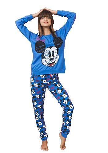 Pijama Mickey Mouse Mujer Manga Larga Azul
