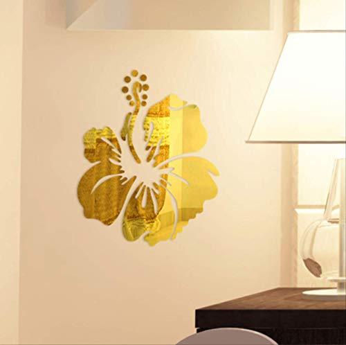Muurtattoo, bloemenmotief, 3D-muurstickers, kunst, spiegels, knutselen, woonkamer, decoratie, 30 x 37 cm