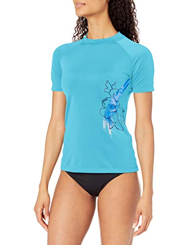 Kanu Surf Damen Marina UPF 50+ kurzärmeliges Active Rashguard & Workout Top - Blau - X-Large