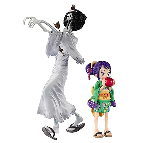 RAXST ONE PIECE BROOK and Otama Action Figure 9' Modell Anime Figures Collectibles toys With Zoro replacement emoji for Photography, Hobby and Collection