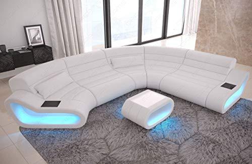 Sofa Dreams Ledersofa Wohnlandschaft mit LED Beleuchtung Concept Modulsofa Farbauswahl