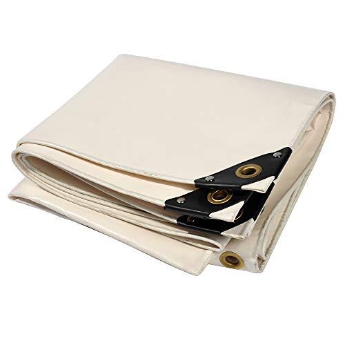 Nemaxx Lona de protección PLA32 Premium 300 x 200 cm; Blanco con Ojales, PVC de 650 g/m², Cubierta, Lona de protección. Impermeable y a Prueba de desgarros, 6m²