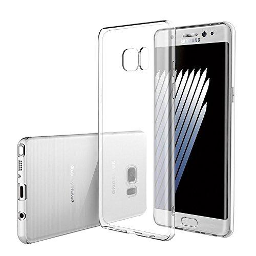 LONVIPI Custodia Cover GALAXY NOTE 7 [Con Protezione della Fotocamera] Samsung Clear Trasparente Crystal Gomma Flessibile Sottile Fina Invisibile Silicone Gel Tpu Morbida LONVIPI