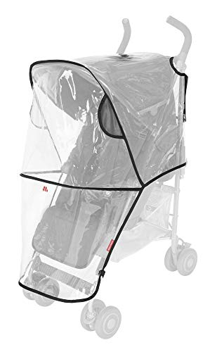 Maclaren Universal Raincover- Protects from rain, Wind and Snow. Fastens Quickly, Easily to All Maclarens and All Umbrella-fold Single Stroller Brands. Phthalate PVC