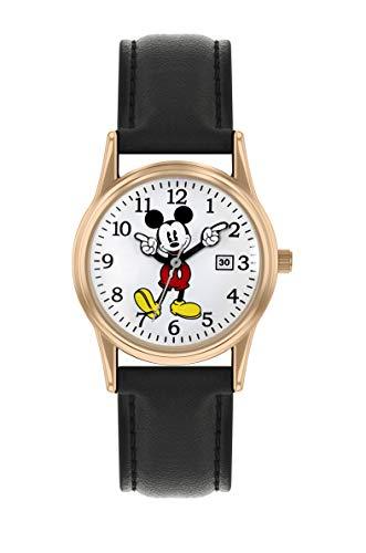 Mickey Mouse Reloj Análogo clásico para Unisex Adultos de Cuarzo con Correa en PU MK5376