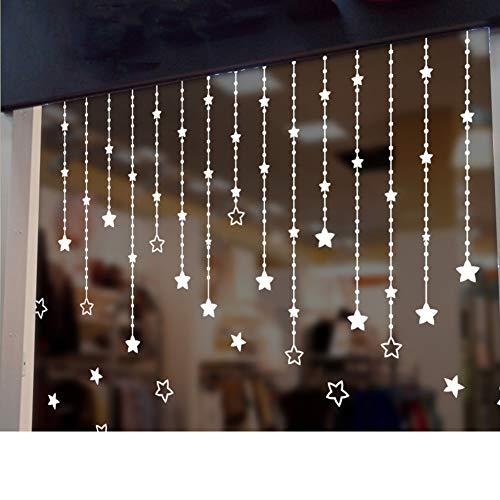 QTQHOME Blanc Daisy Stickers muraux,Décoration Salon TV Fond The Wall Chambre Romantique FRA?ches Auto-adhésif Bricolage Imperméable Applique Sticker-D 76x60cm(30x24inch)
