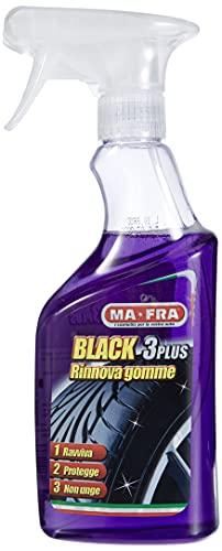 Mafra H0494, Black 3Plus, Spray per rinnovo e lucidatura pneumatici, Protezione pneumatica per auto, Non grasso e senza segni, 500 ml, Colori multipli, L