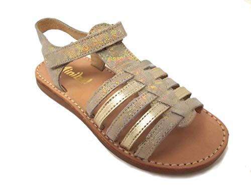 Minibel - Chaussures Noel - Sandales - Nu Pieds - MODELE Paris Or - Taille 28 EU