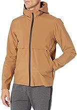 Amazon Brand - Peak Velocity Men's Windbreaker Full-Zip Jacket, Tan, Small