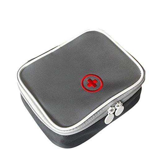 Lifesport Erste Hilfe Set, Erste-Hilfe-Koffer First Aid Kit Notfalltasche Medizinisch Tasche Wasserdicht Tragbar Perfekt Design für Haus Auto Camping Jagd Reisen Natur und Sport (Grau)