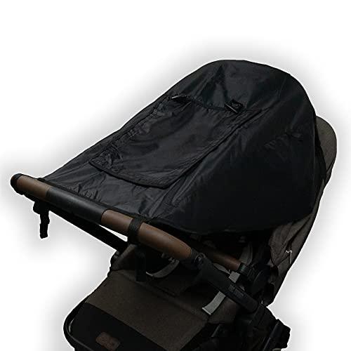 Bambino Benni Universal Sonnensegel Comfort in Schwarz für alle Kinderwagen und Verdecksportwagen, Sonnenschutz und Sichtschutz, UPF50+
