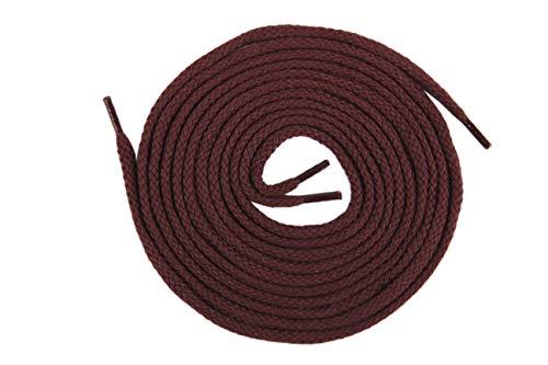 Die Schuhanzieher Kordelsenkel Schuhsenkel runder Schnürsenkel Schuhband Baumwolle 4mm z2221(120 cm,Bordeaux)