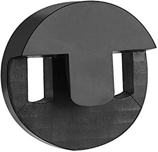 Canomo 1 Pack Tourte Style Cello Mute Round Two Hole Mute, Black