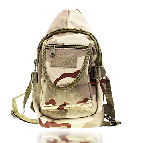 Tac Threads 12,5 x 7 kleine Camo Tactical Travel Crossbody Rucksack Schultertasche Mini Sling Military Tool Tasche für Jagd, Angeln Wasserabweisend Herren Rucksack