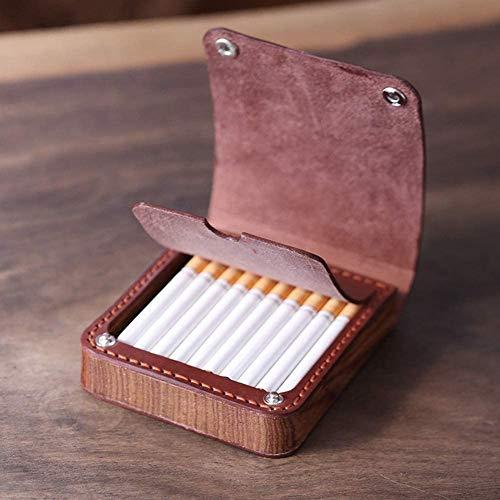 Caja de cigarrillos Caja de cigarrillos Multifunción Multifunción Ultralight Portátil Portátil Funda de cigarrillo de madera puede contener 20 cigarrillos, d, 110x97x24mm cajas de cigarrillos
