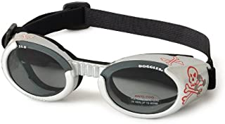 Doggles ILS Dog Goggles UV Sunglasses ALL SIZES Eye Protection Lens Shades New (Doggles ILS Goggles/Sunglasses, Large, Silver with SKULL & Crossbones)
