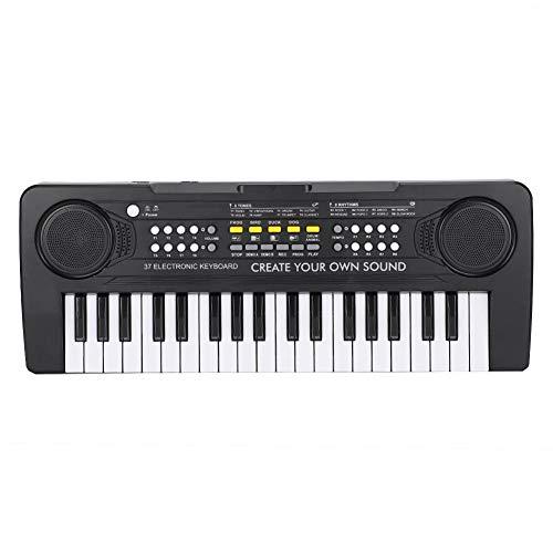 Piano eléctrico Excelente timbre Mini 37 teclas Control de volumen doble Instrumentos...