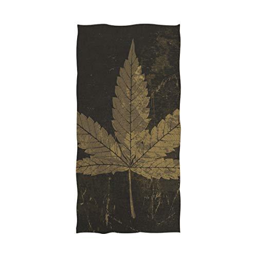 WDDHOME Toalla de playa de microfibra de secado rápido con diseño de hojas de cannabis, diseño con textura manchada, toalla de playa, extra grande, 152 x 81 cm, para natación, fitness, deportes, yoga