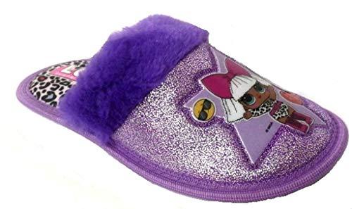 LOL Surprise Pantofole, Ciabatte Bimba Art. LOP1026 Peluche Viola (27/28)