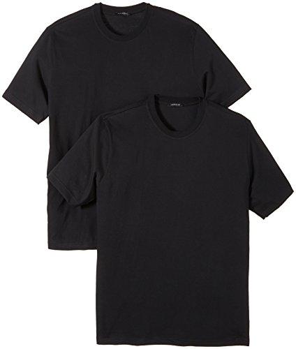 Schiesser Herren Unterhemd 2 er Pack 208150-000, Gr. 6 (L), Schwarz (000-schwarz)
