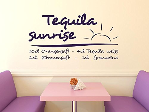 GRAZDesign wandtattoo keuken Tequila Sunrise, keukendecoratie decoratiefolie recept 110x57cm 822 waterlilly.
