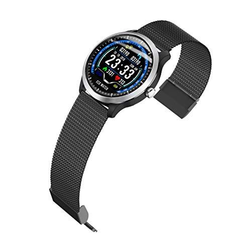 Reloj inteligente para hombre, modelo 2021, con monitor de ritmo cardíaco y monitor de sueño, contador de pasos, distancia/calorías