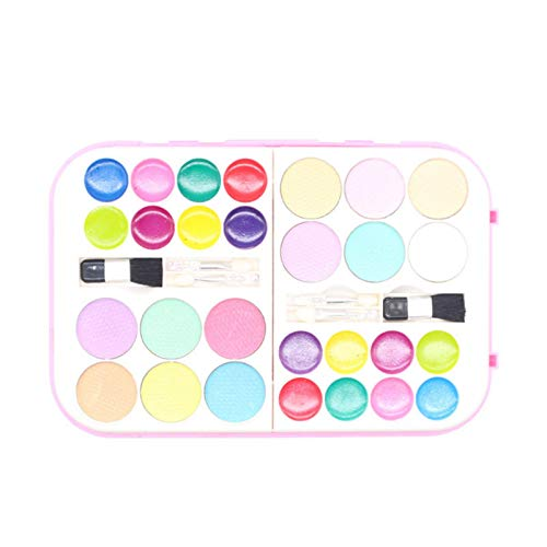 Raspbery Children's Cosmetics, Children Water-soluble Cosmetics Set Nail Polish Makeup Princess Play House Toys All-in-One Glam Makeup Set For Kids And Tweens trustworthy