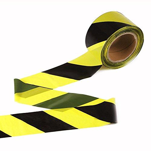 TopSoon Cinta de Señalización Amarillo y Negro 200 m x 70 mm no Adhesivo
