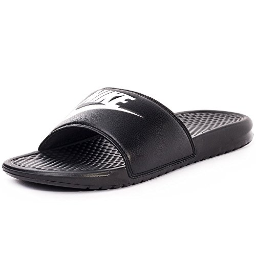 Nike Men's Benassi Just Do It Athletic Sandal, Black/White Noir/Blanc, 11.0 Regular US