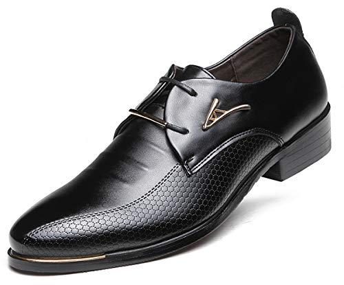 AARDIMI Herrenschuhe Herren Uniform Berufsschuhe Elegant Businessschuhe Lederschuhe Hochzeit Schuhe, 43 EU, Schwarz