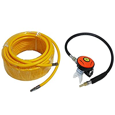 HPDAVV 100ft PVC Air Hose and 145PSI Scuba Diving Regulator,Octopus Hookah with Mouthpiece,Free Flow Resistant,M10×1