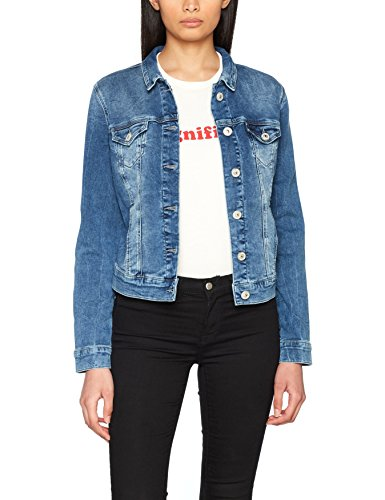 Mavi Damen Charlize Jeansjacke, Blau (True Blue Sporty 22585), Medium