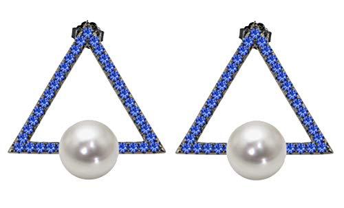 PAPOLY®, Pendientes de vestir GENUINE CZECH CRYSTAL® detalle de Perla, delicado diseño...