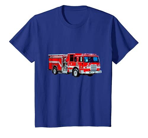 Kinder Feuerwehrauto Rettungsleiter Feuerwehrhaus Motor Medic Rettungsleiter T-Shirt
